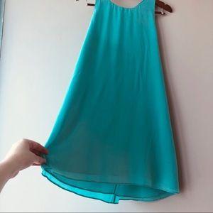 Alice + Olivia Dresses - Alice + Olivia Silk Turkoise Dress